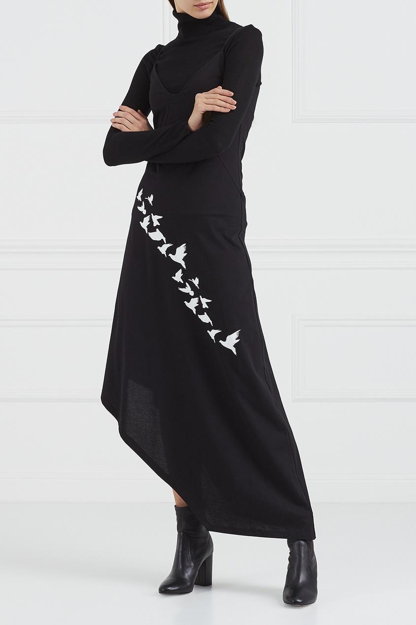 Korsun Асимметричное платье с вышивкой платье с вышивкой