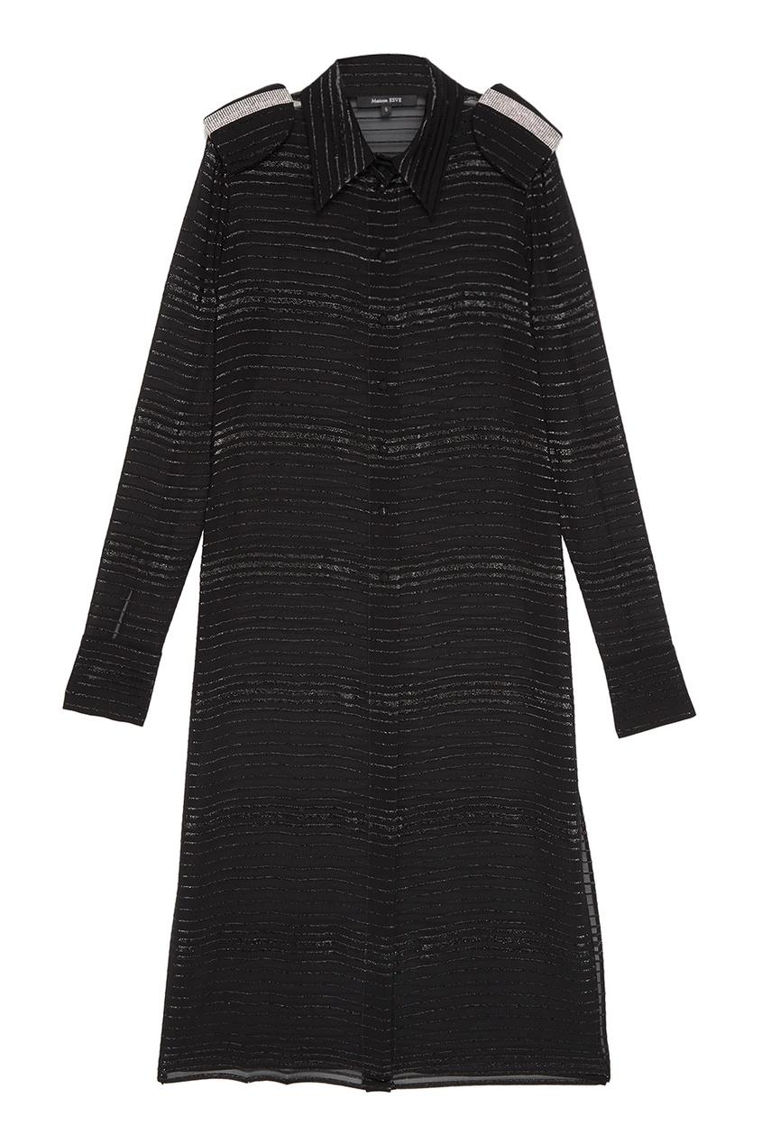 Esve Шелковое платье-рубашка с люрексом esve платье с пайетками