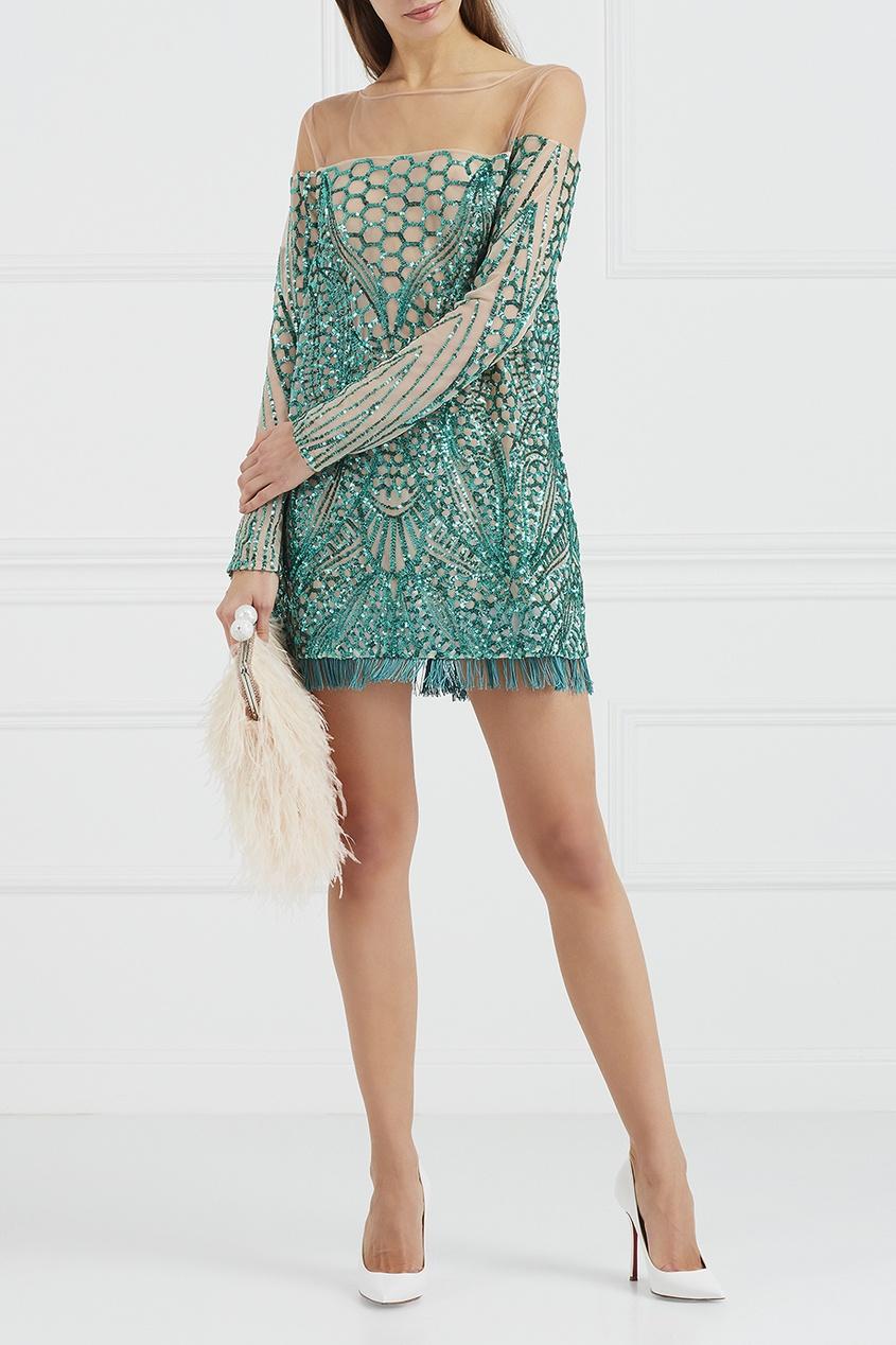 цены на Esve Платье-мини с вышивкой пайетками в интернет-магазинах