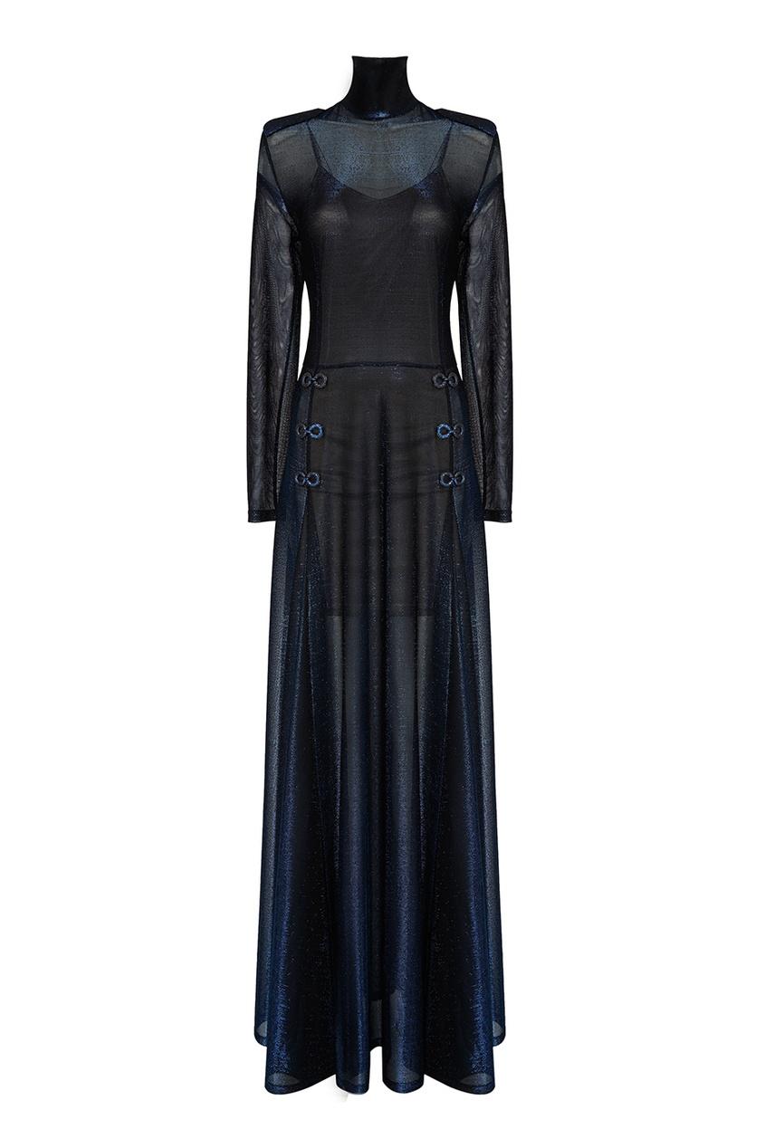 Esve Трикотажное платье-макси с люрексом esve платье с пайетками