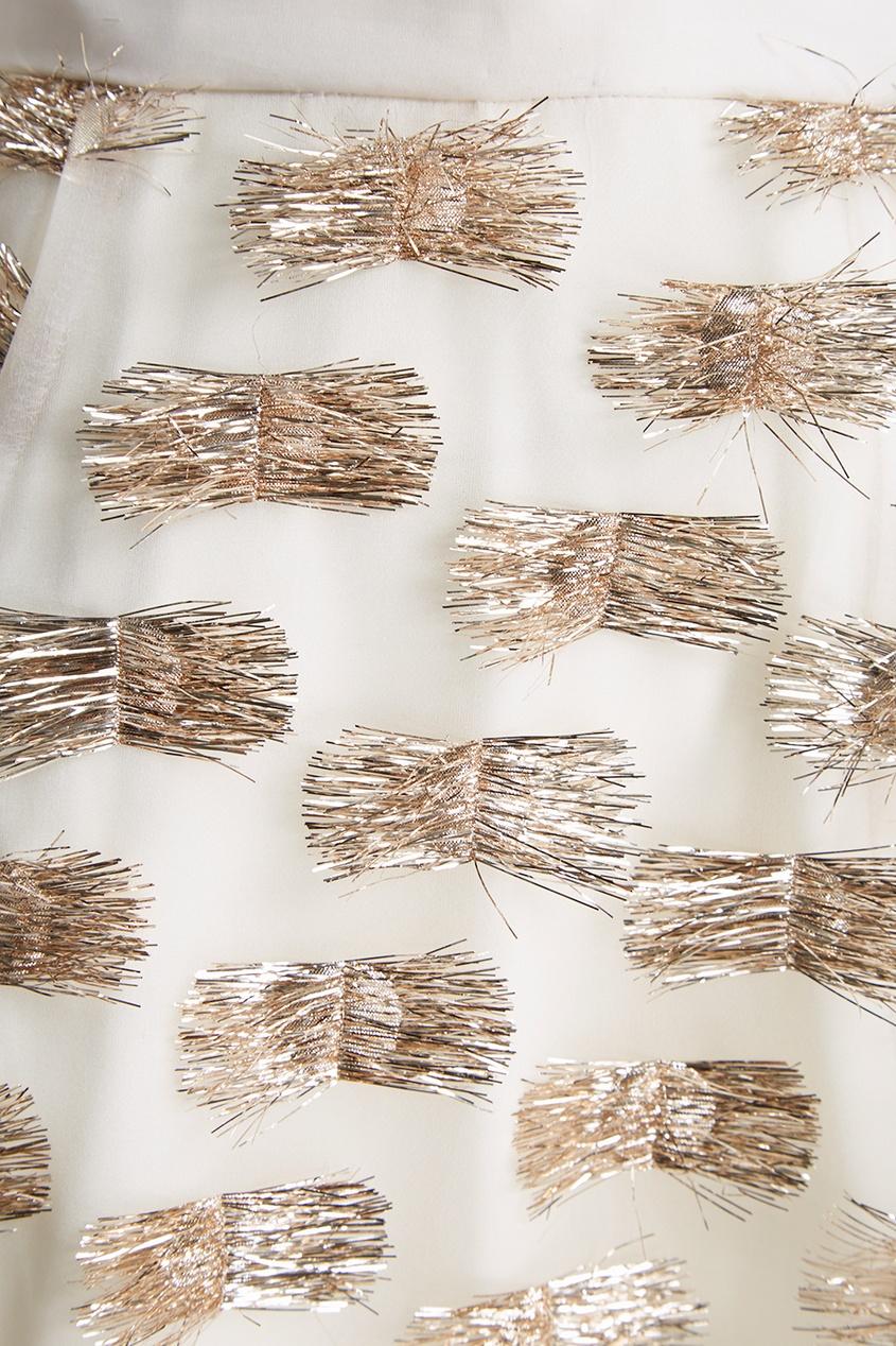 Юбка-макси из шелка с люрексом