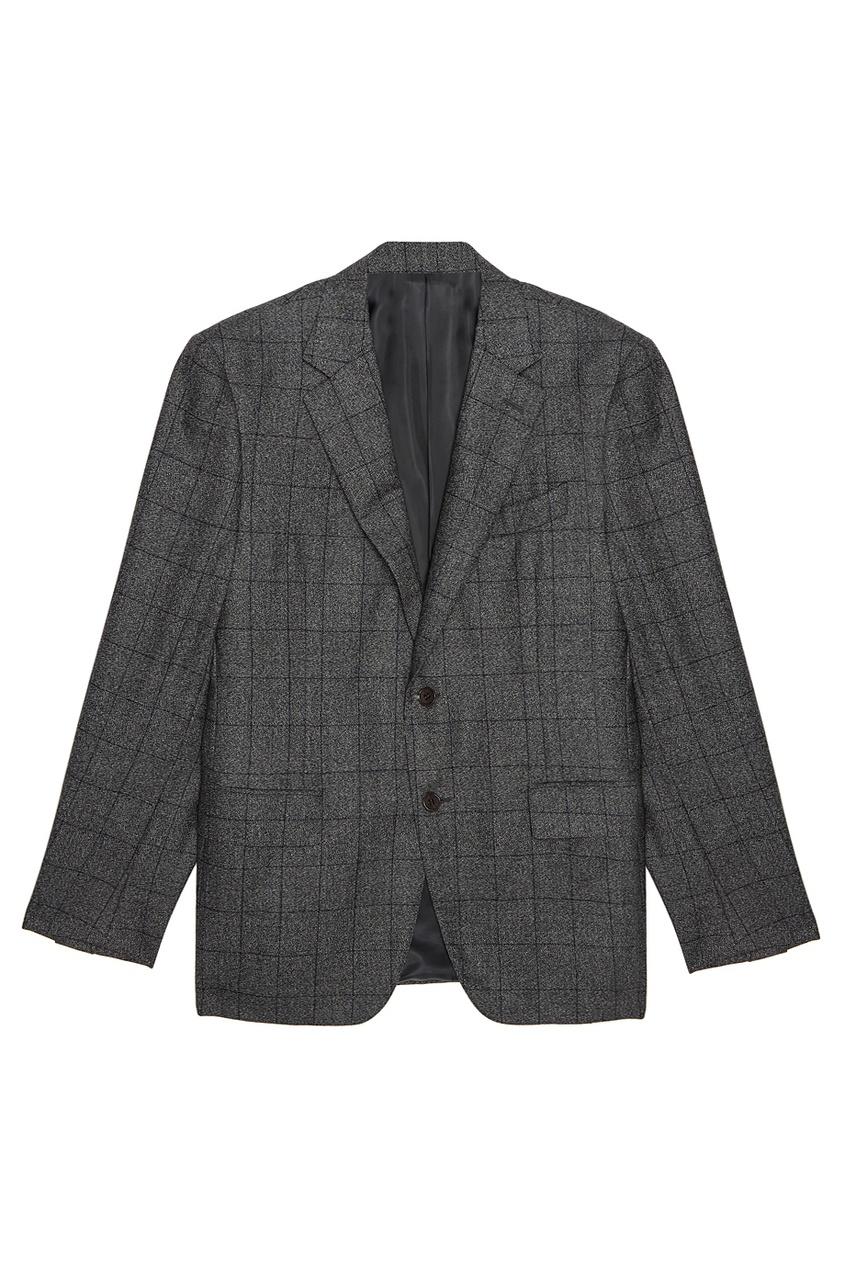 Canali Шерстяной костюм-двойка серый