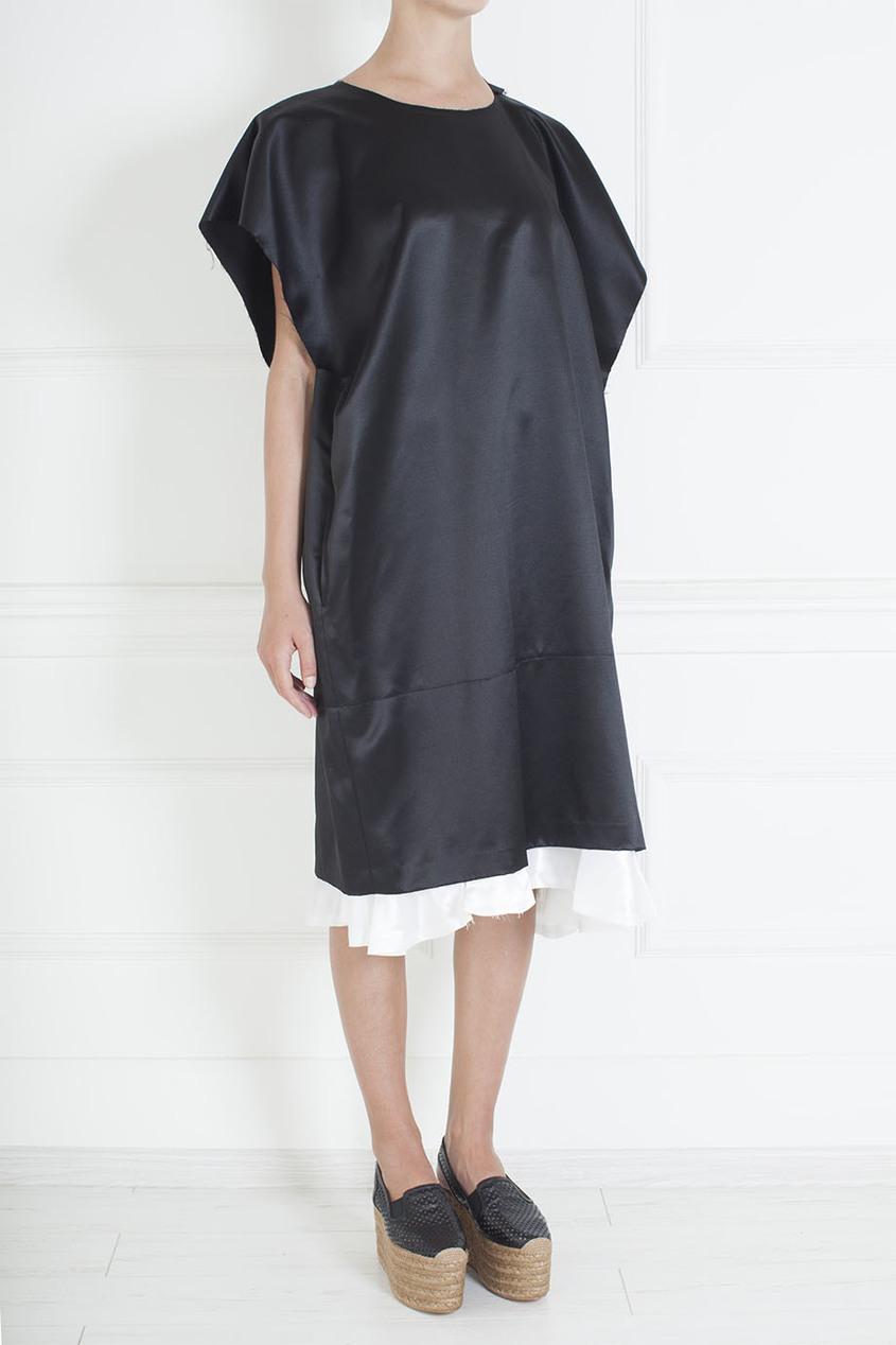 Comme des Garcons Платье из шелка и шерсти