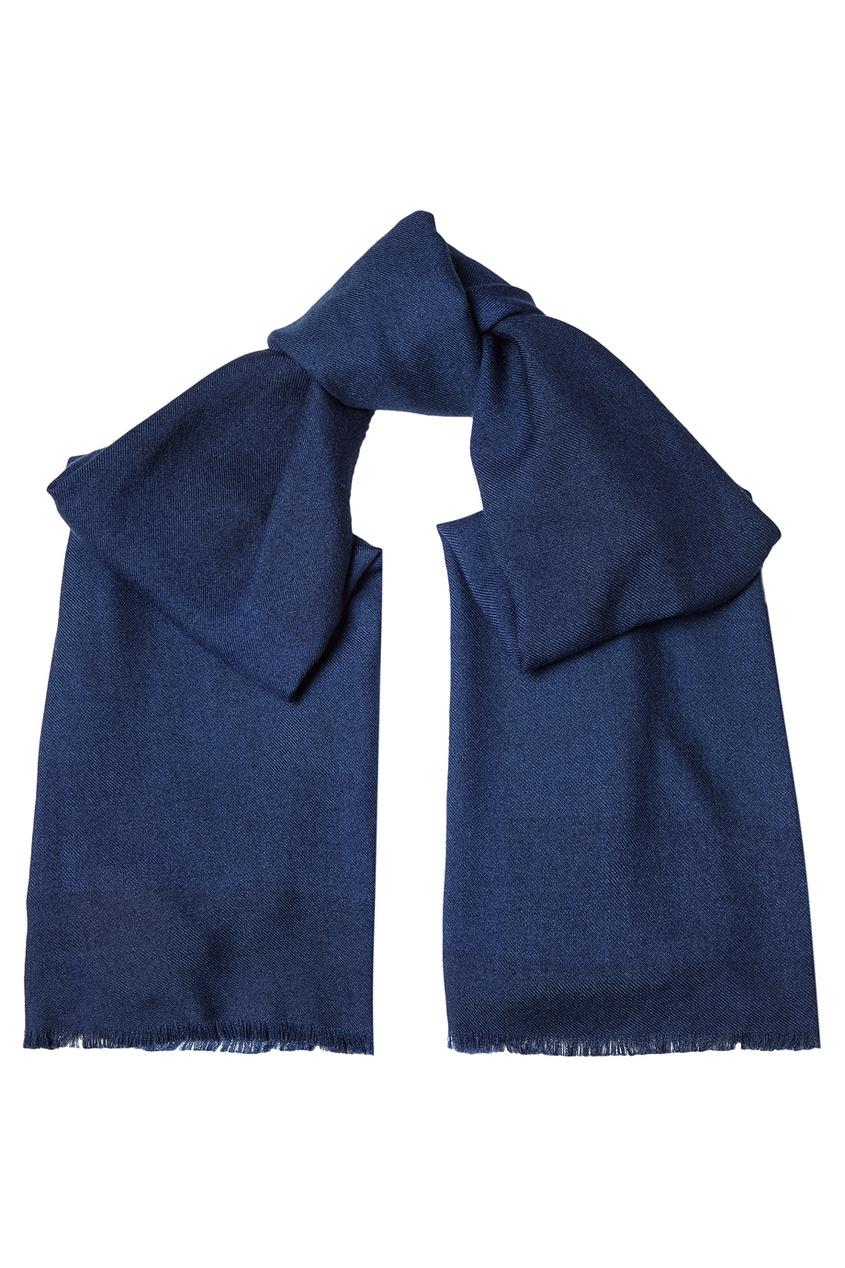 CESARE ATTOLINI Фактурный шарф из шелка и кашемира цена 2017