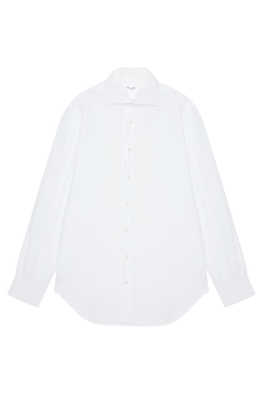 CESARE ATTOLINI Хлопковая рубашка с широким воротником cesare attolini галстук