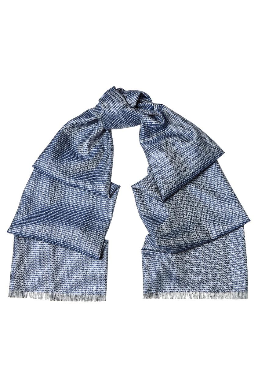 BRIONI Шелковый шарф в полоску brioni шерстяные брюки серые
