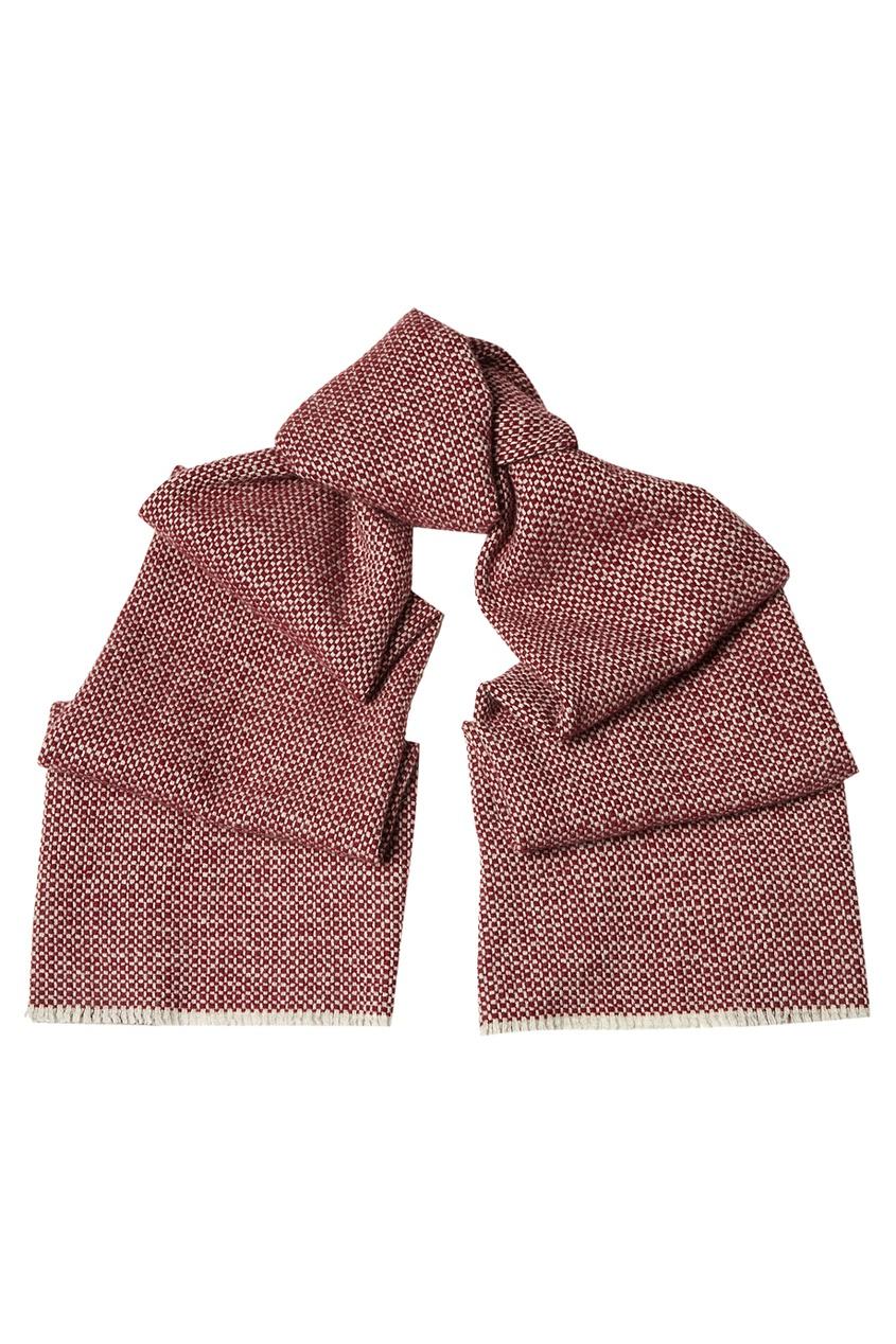 CESARE ATTOLINI Кашемировый шарф красный цена 2017