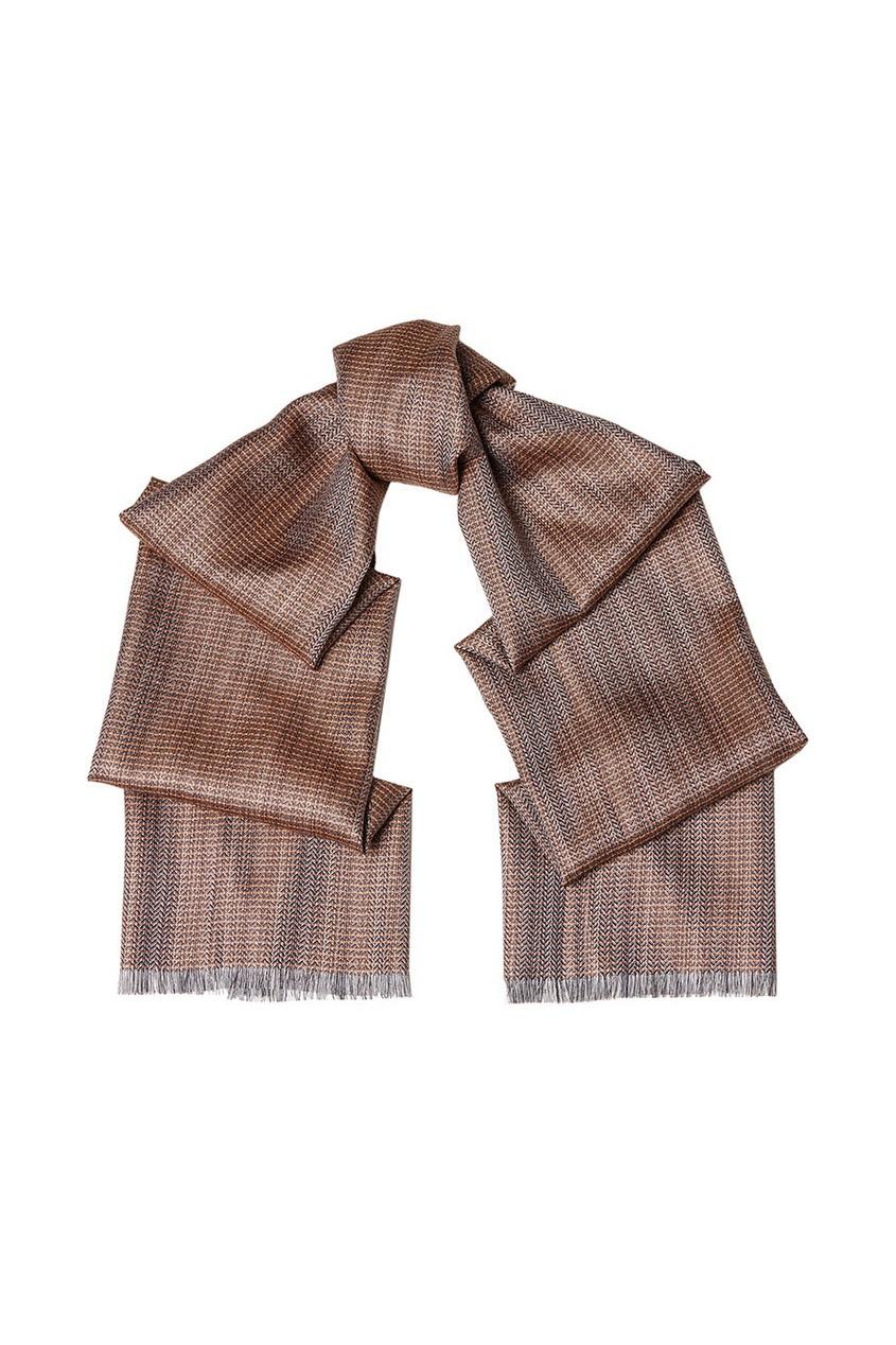 BRIONI Шелковый шарф в полоску brioni спортивный костюм от brioni 72536