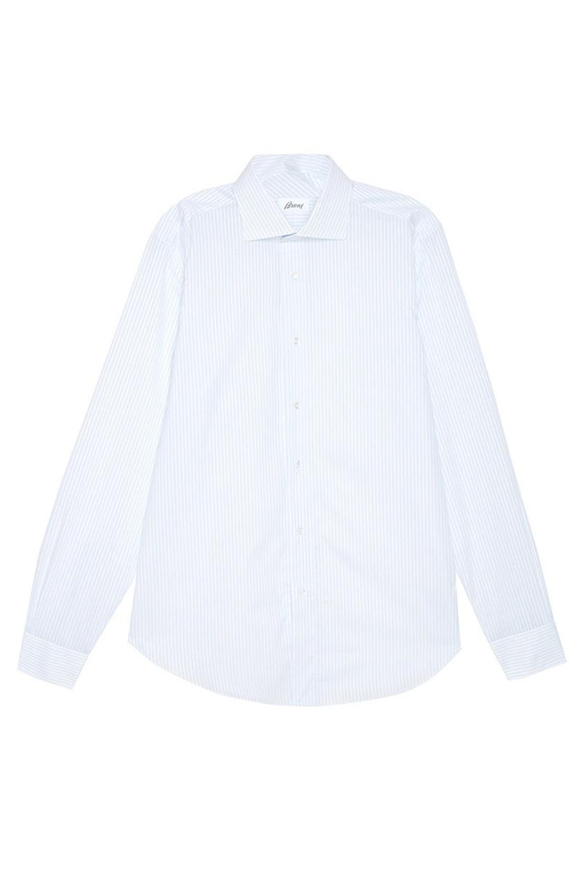BRIONI Рубашка в полоску brioni шерстяные брюки серые