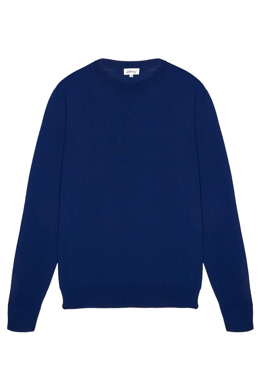 BRIONI Шерстяной джемпер синего цвета brioni шерстяные брюки серые