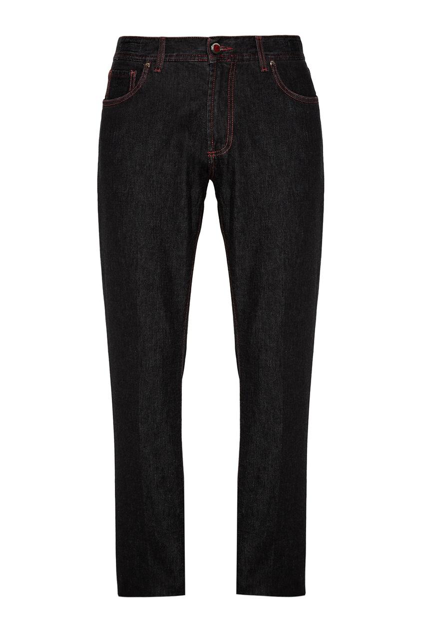 Укороченные джинсы коричневые