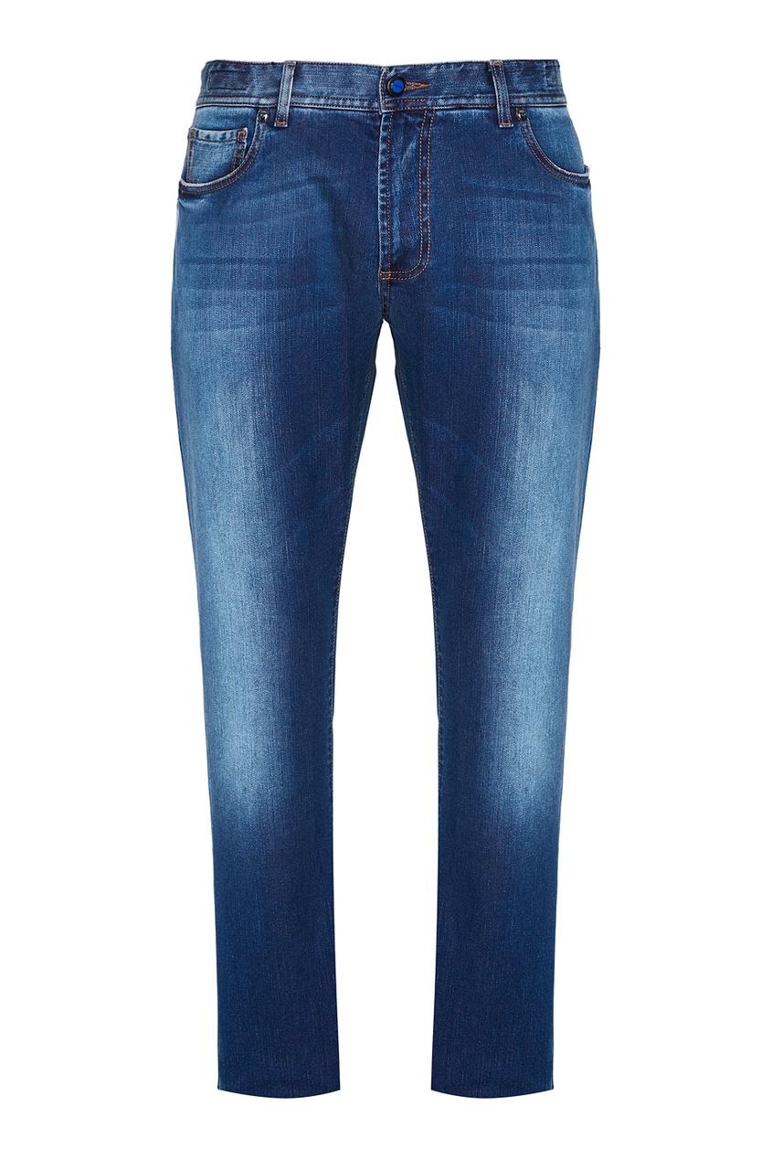 CESARE ATTOLINI Укороченные джинсы голубые cesare attolini галстук
