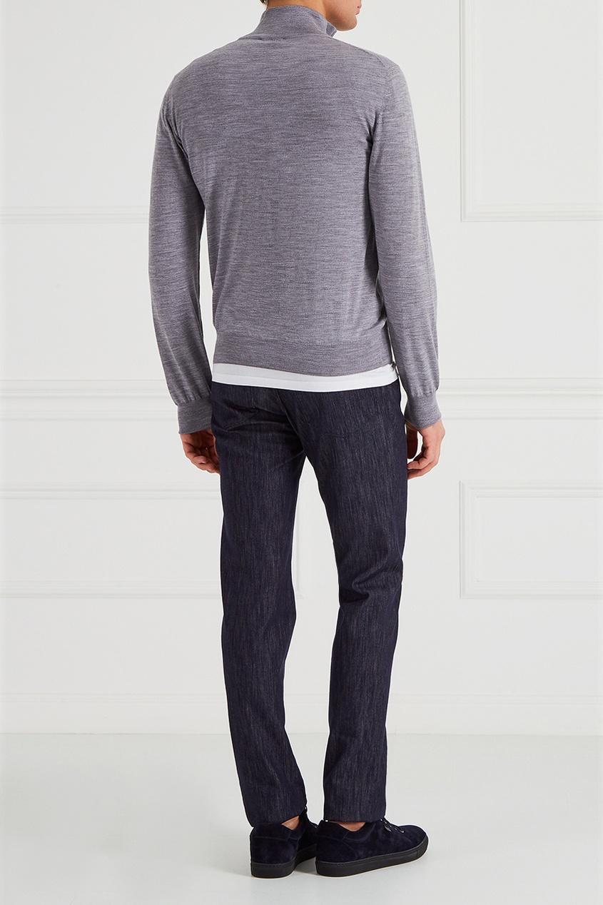 рубашка brioni цвет белый BRIONI Фактурные джинсы