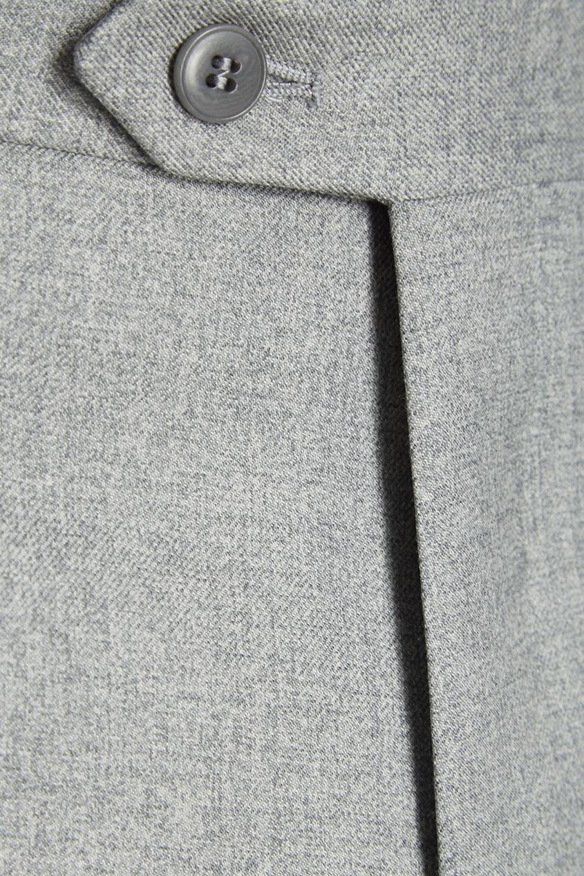 BRIONI Шерстяные брюки серые кукурузное масло с ценой