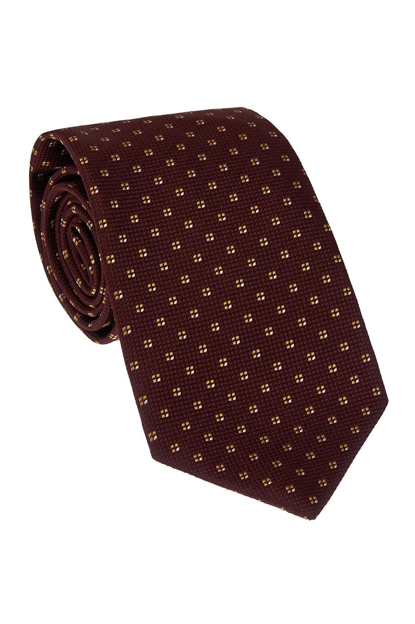 CESARE ATTOLINI Фактурный шелковый галстук цена 2017