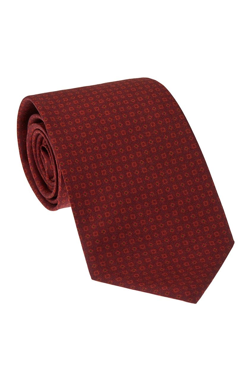 CESARE ATTOLINI Бордовый шелковый галстук лукьяненко с в мелкий дозор