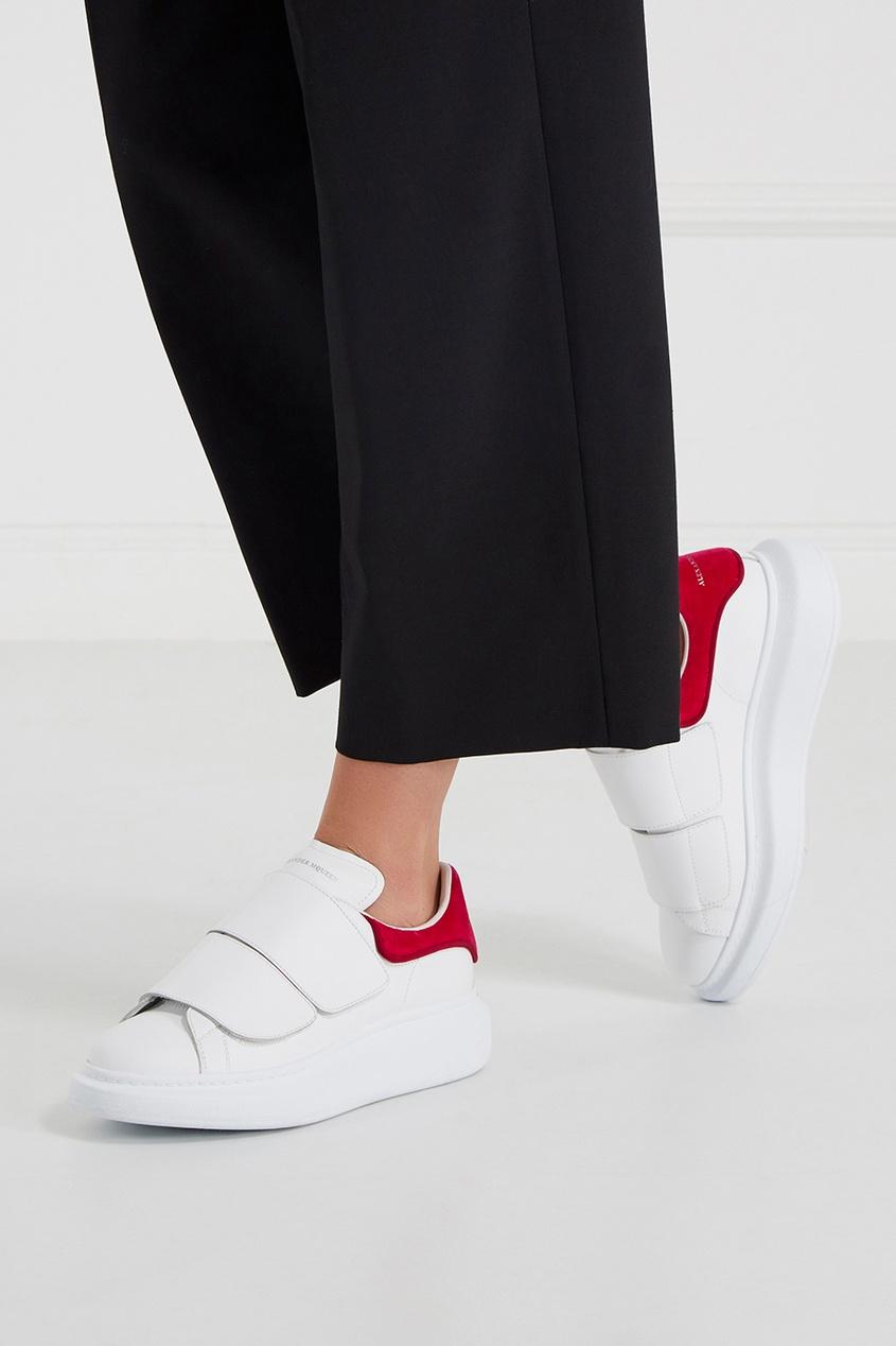 где купить Alexander McQueen Кожаные кроссовки на широкой подошве по лучшей цене