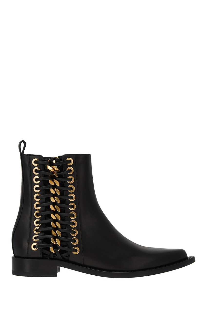 где купить Alexander McQueen Кожаные ботинки с люверсами по лучшей цене