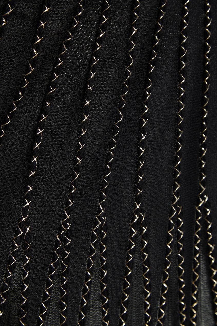 Alexander McQueen Юбка из шелка с люрексом alexander mcqueen юбка из шелка с люрексом