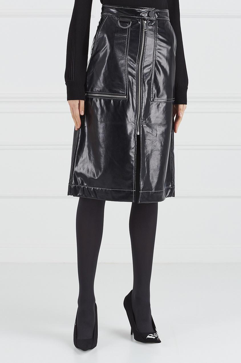 Лакированная юбка