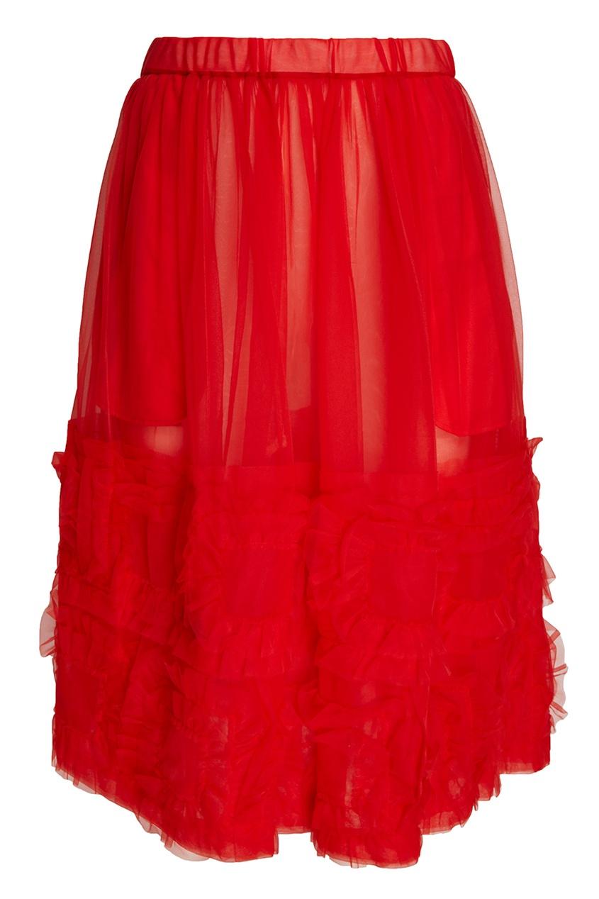 Шифоновая юбка с оборками