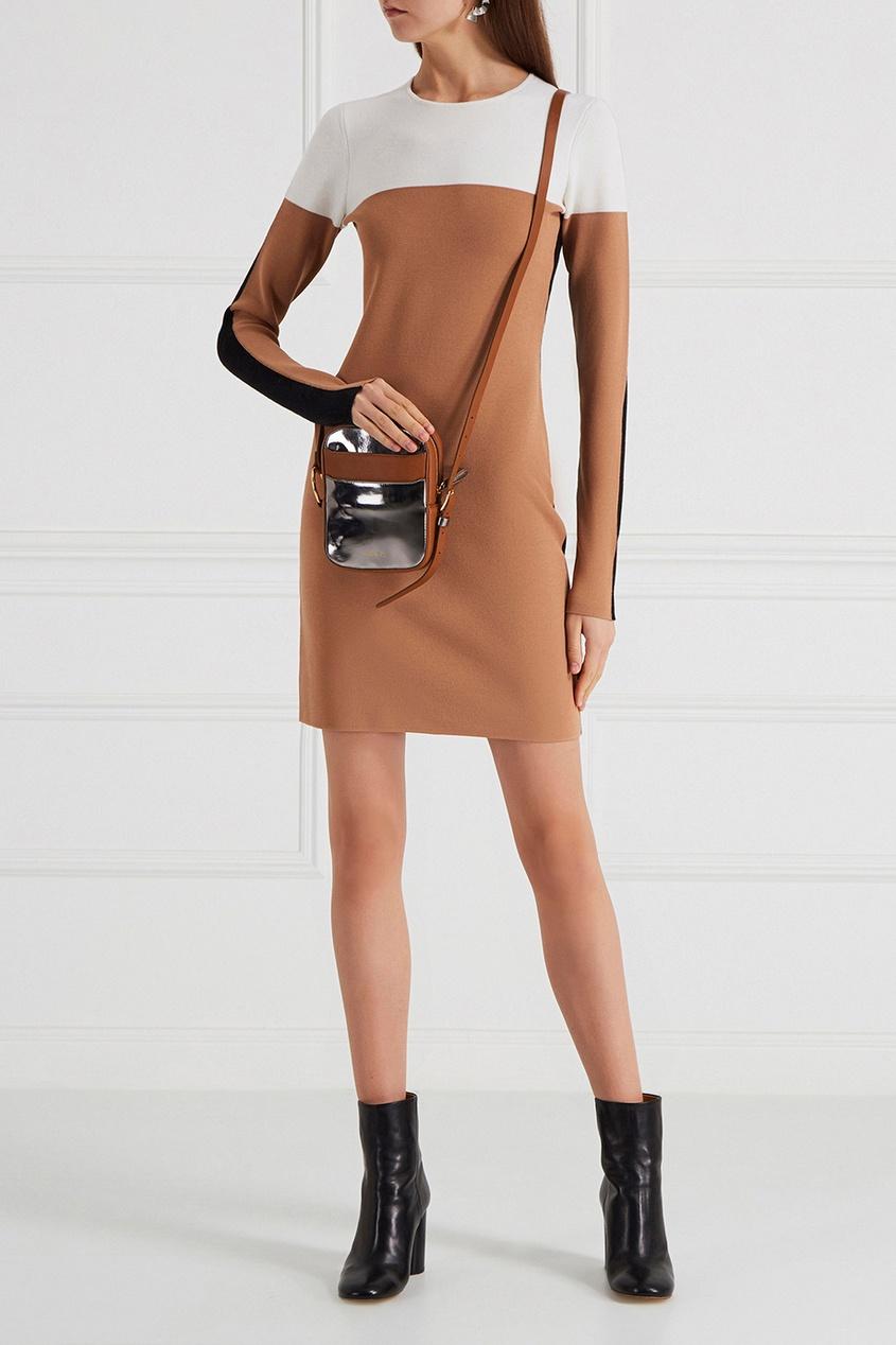 Трикотажное платье color-block