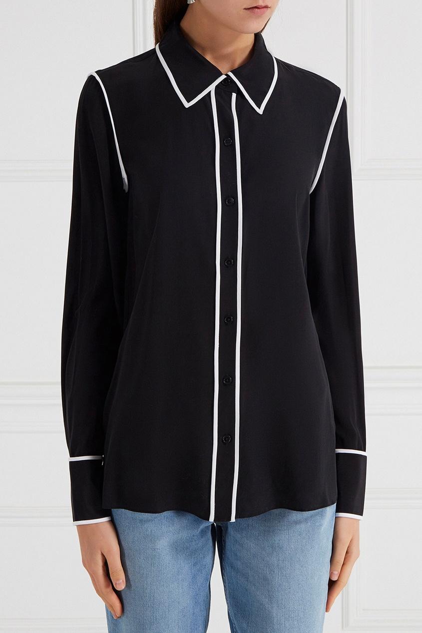 Шелковая блузка с окантовкой