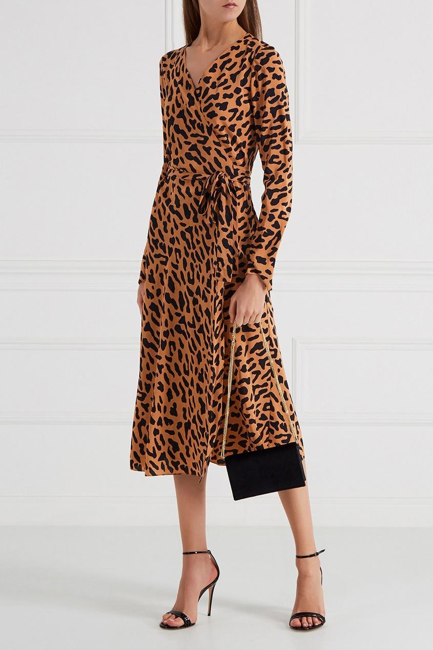Diane von Furstenberg Шелковое платье с запахом diane von furstenberg шелковое платье adrienne