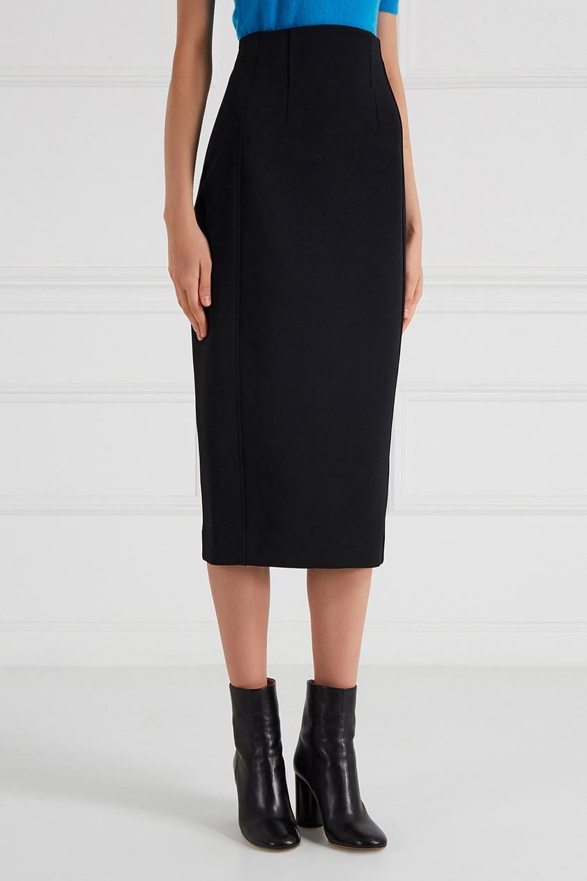где купить  Diane von Furstenberg Черная юбка-карандаш  по лучшей цене