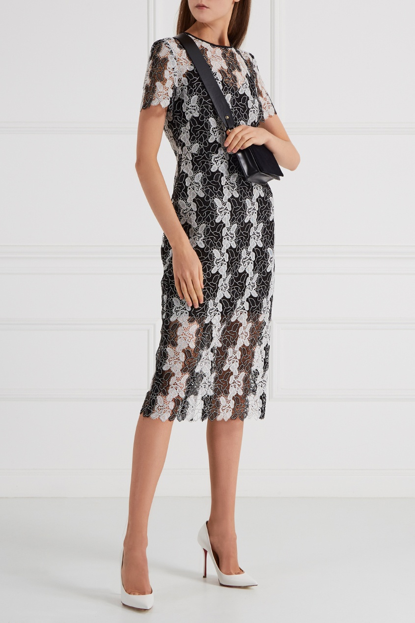 Diane von Furstenberg Кружевное черно-белое платье белое кружевное платье в ростове