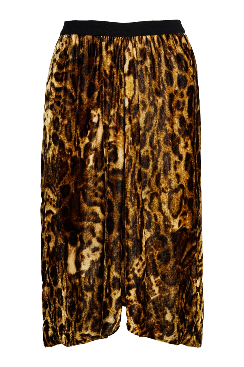 Бархатная юбка с принтом Tursanne