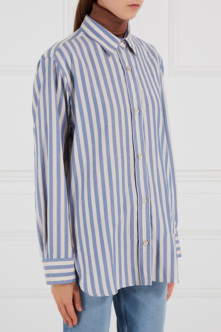 Isabel Marant Хлопковая рубашка в полоску Manray