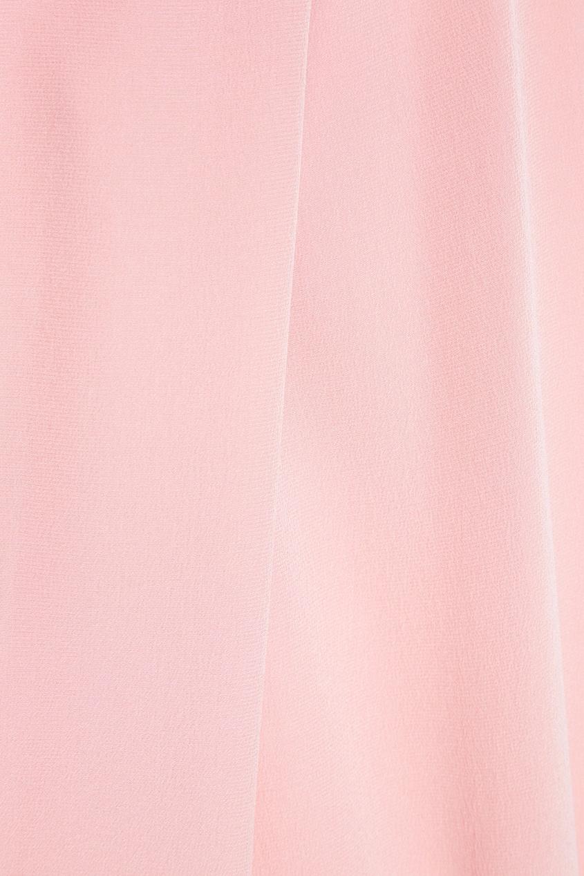 Розовая блузка из шелка Salina