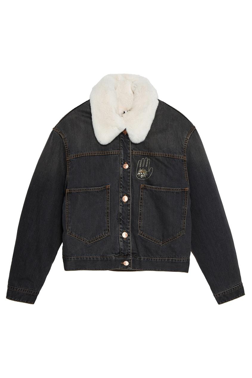 Купить со скидкой Джинсовая куртка с вышивкой на спине Eleane