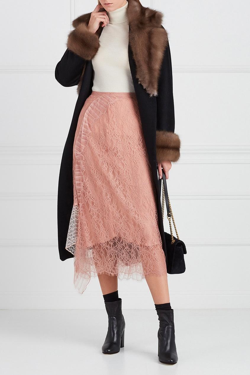 Асимметричная юбка из кружева