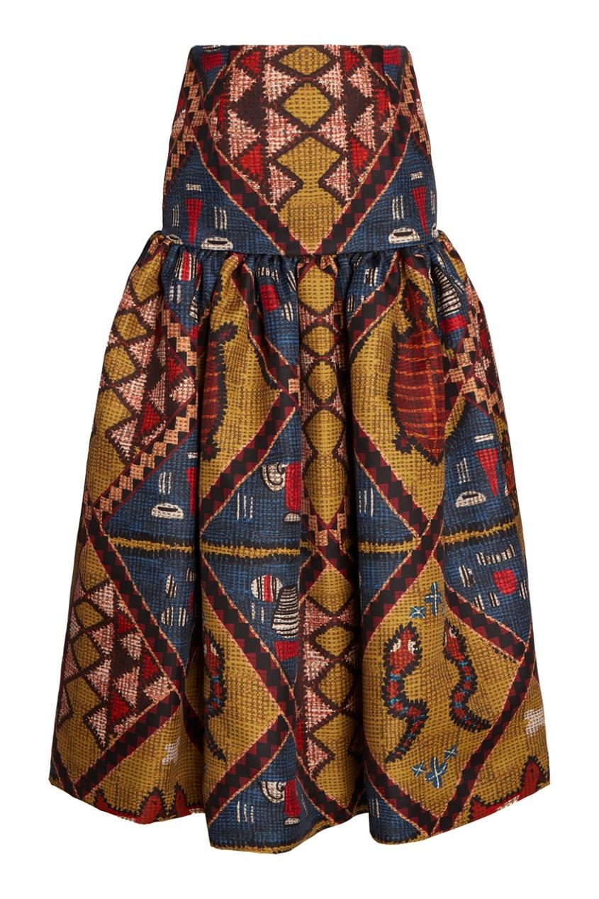Stella Jean Пышная юбка с принтом kenzo юбка с принтом