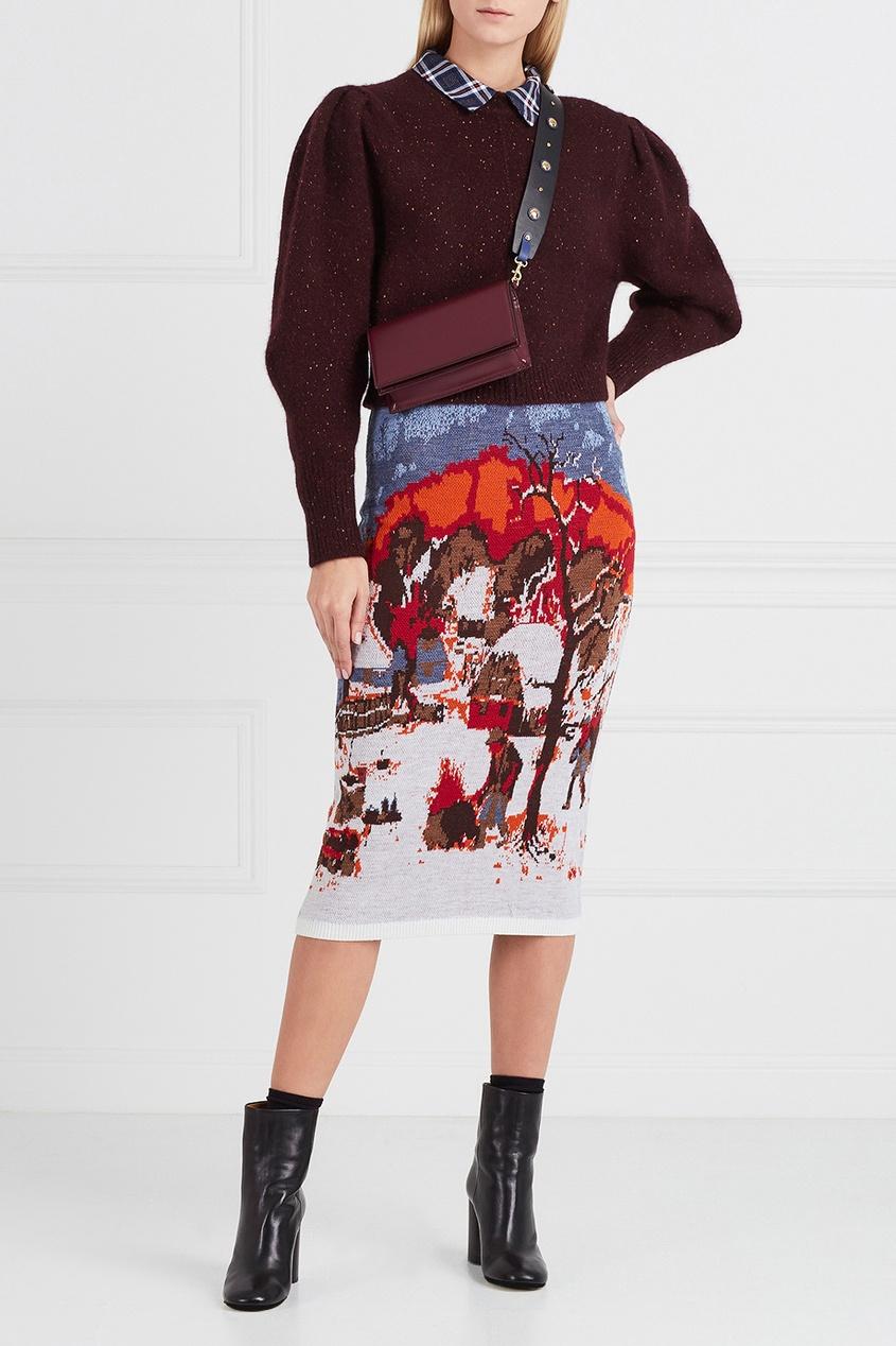 Stella Jean Вязаная юбка с рисунком stella jean рубашка stella jean