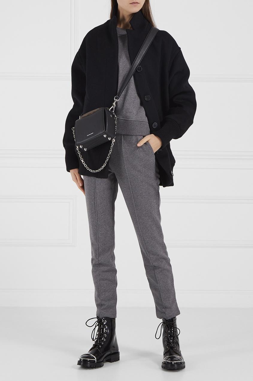 Меланжевые брюки