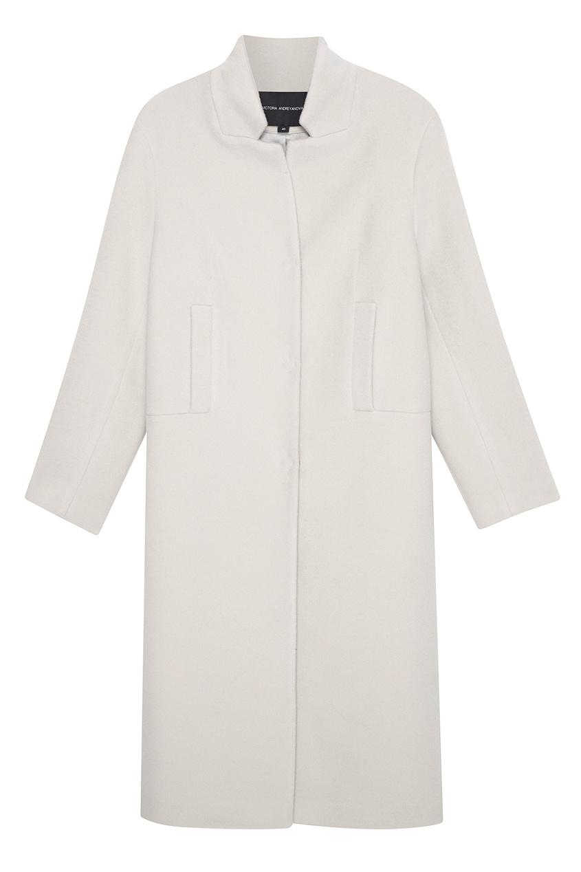Купить со скидкой Однотонное шерстяное пальто