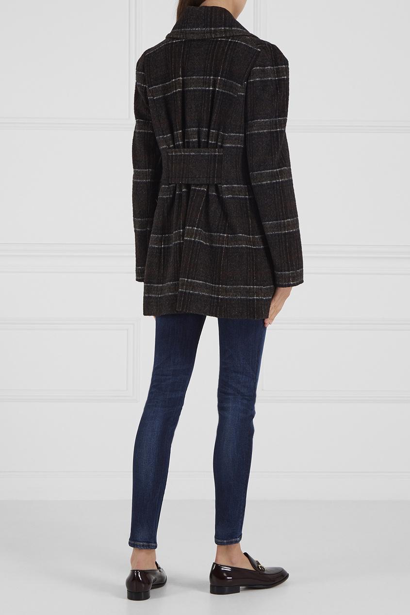 Vivienne Westwood Anglomania Двубортное пальто в клетку msgm двубортное пальто в клетку