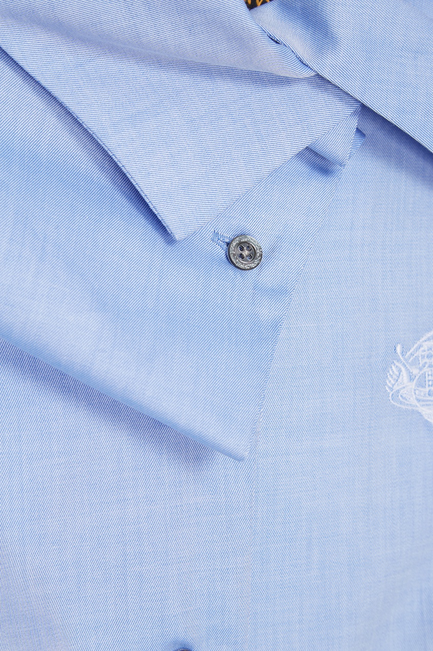 Хлопковая блузка с логотипом