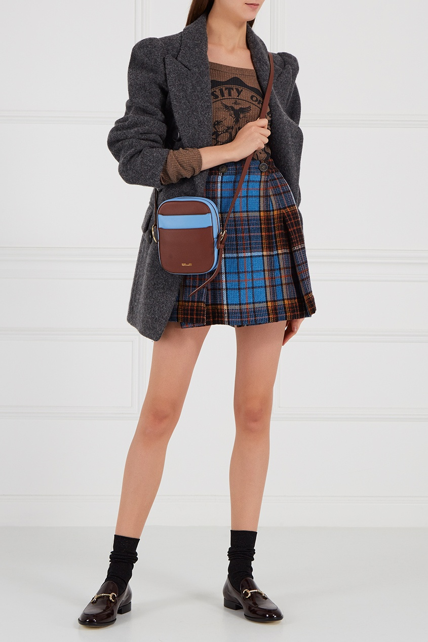 Шерстяная юбка-мини