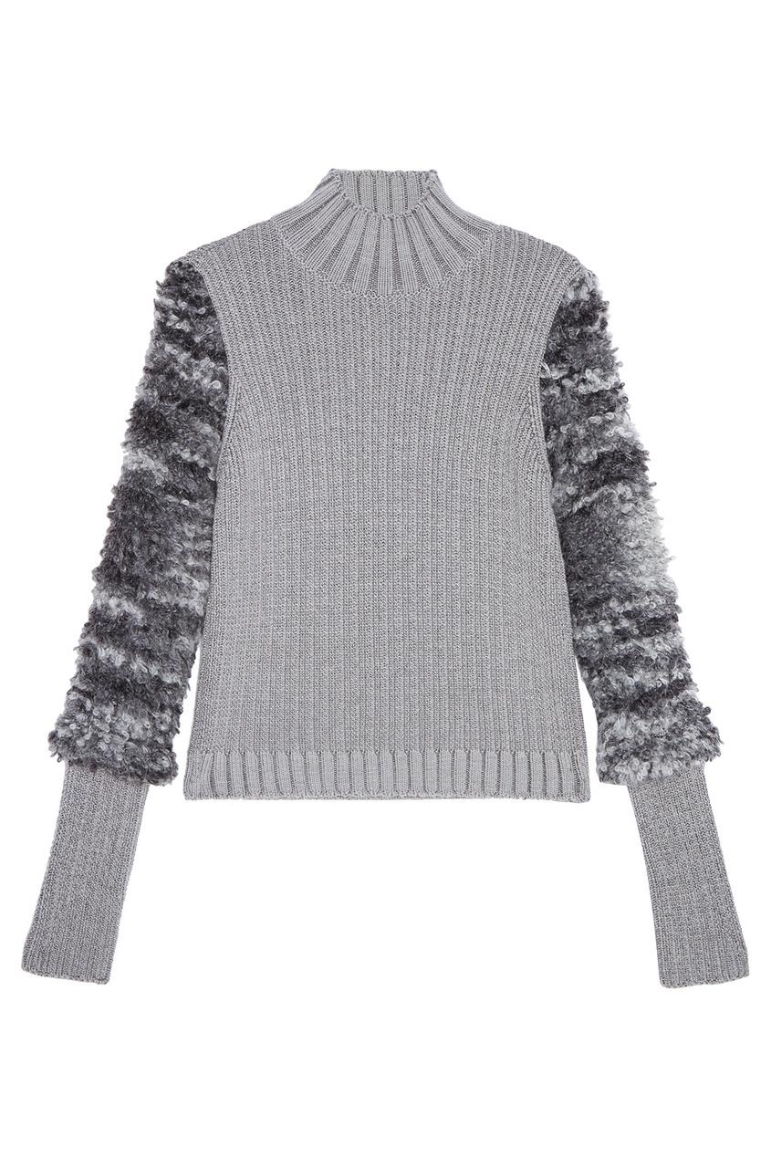 женский свитер carven, серый