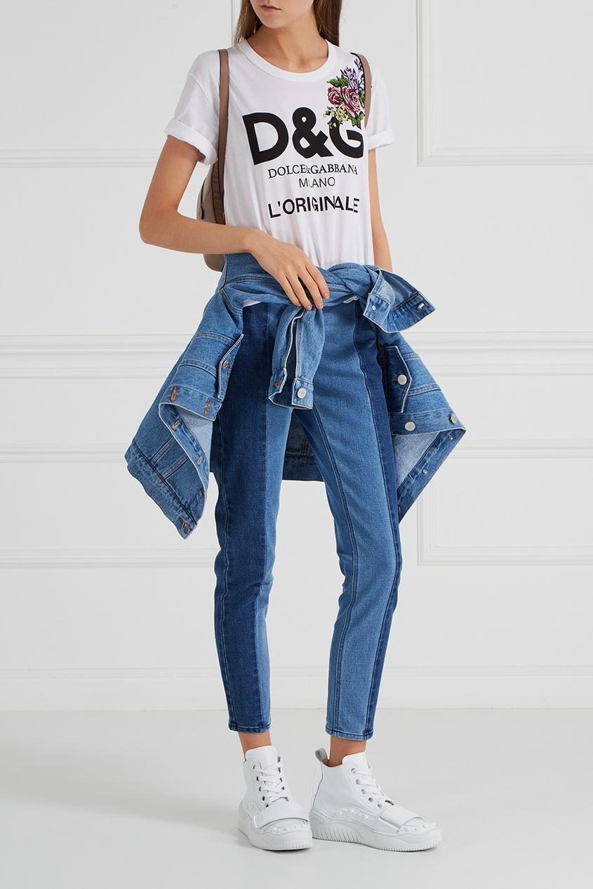 Dolce&Gabbana Футболка с принтом футболка белая с принтом ido ут 00004169