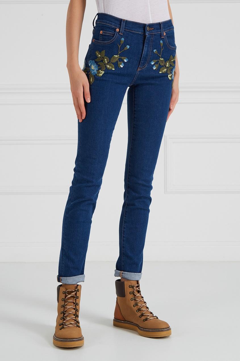 Gucci Джинсы с вышивкой gucci children джинсы с вышивкой