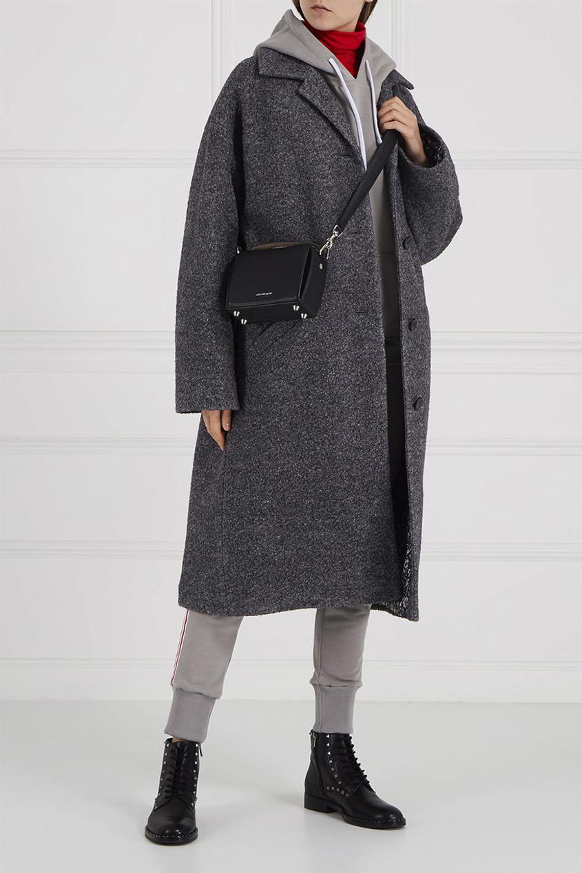 Фото #1: Пальто из букле серое