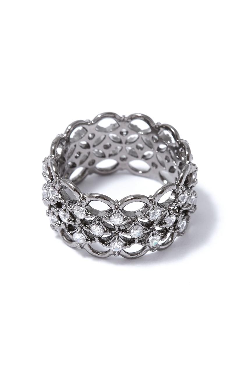 Herald Percy Широкое кольцо с кристаллами серьги herald percy асимметричные серьги цветочной формы