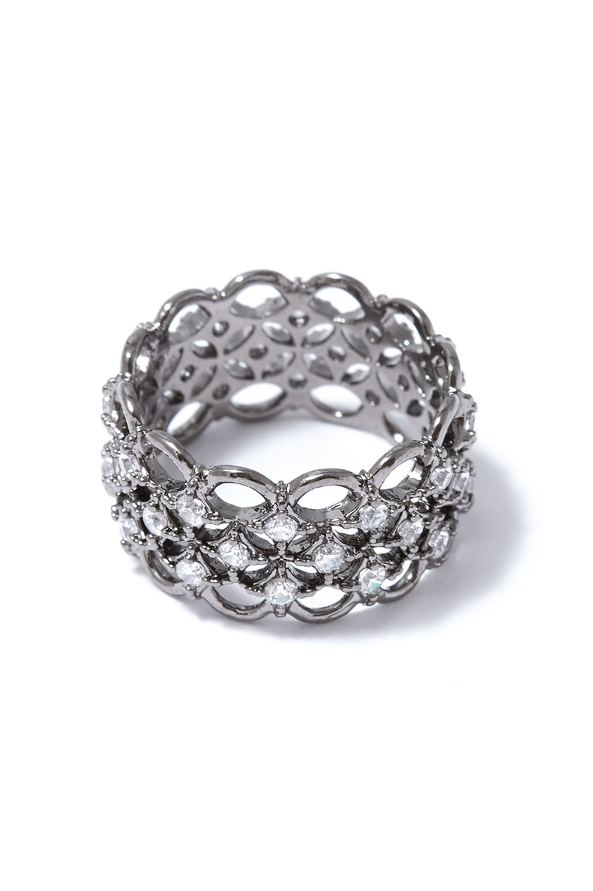 Herald Percy Широкое кольцо с кристаллами herald percy колье с кристаллами