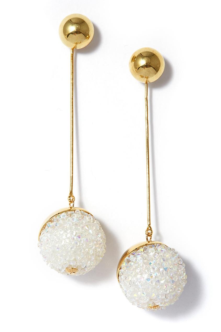 Herald Percy Серьги с инкрустированными шарами серьги herald percy асимметричные серьги цветочной формы