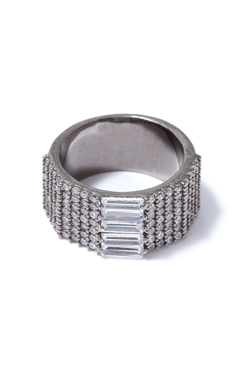 Широкое кольцо с паве